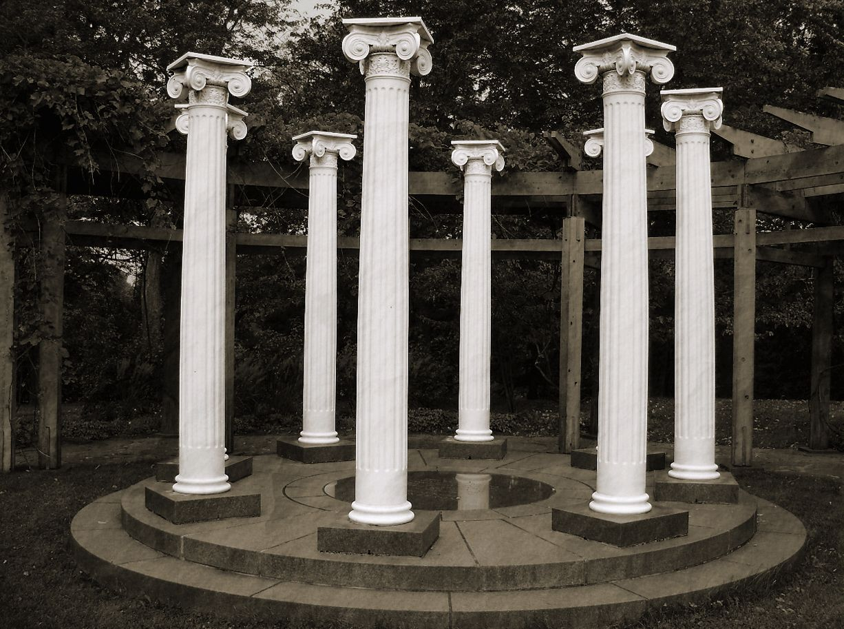 A Round, Fluted Empire of Stonehenge of Columns.