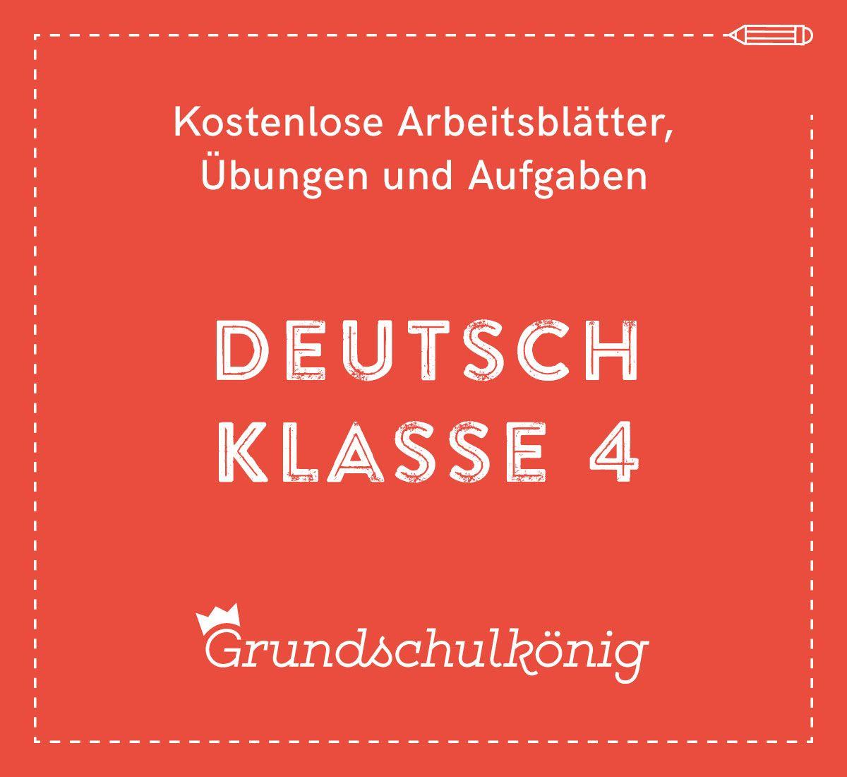 Kostenlose Übungen, Aufgaben und Arbeitsblätter für Deutsch in der 4 ...