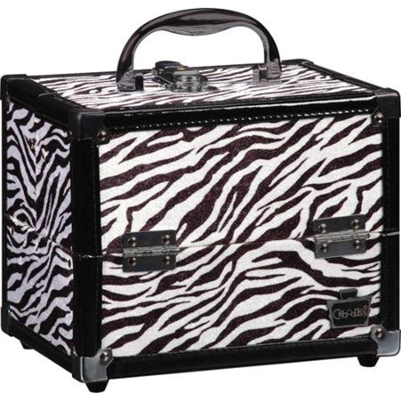 Caboodles Adored Makeup Train Case Zebra Print  Click image to