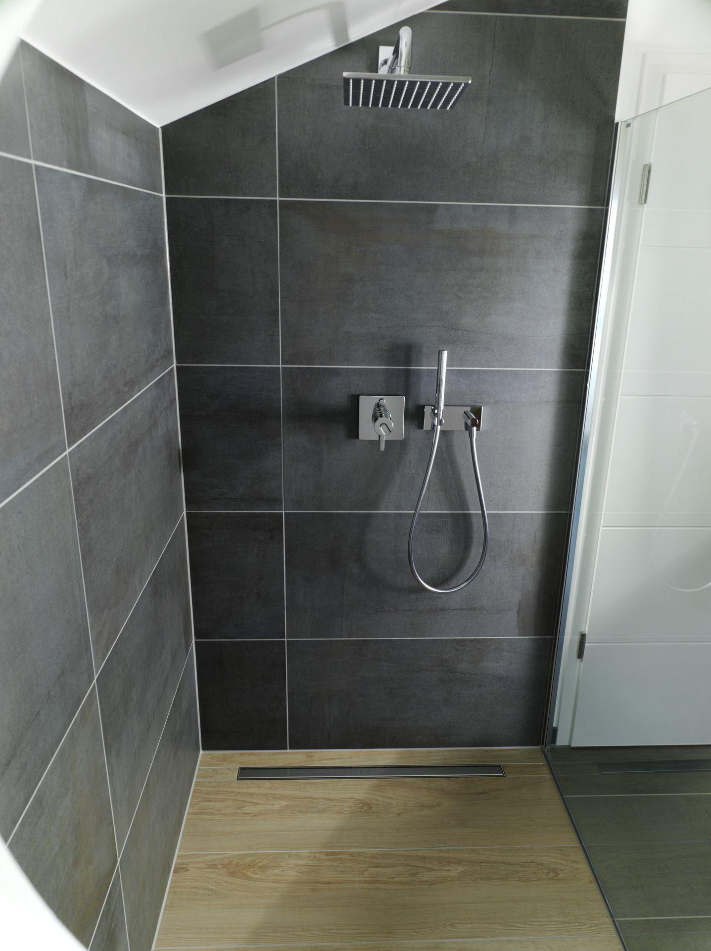 Dusche In Isowood Fertighaus Mit Bodengleicher Dusche In Holzoptik