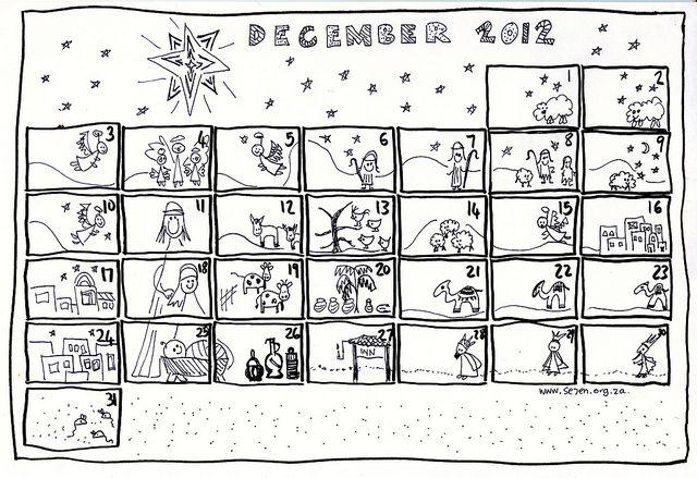 December And Free Printable Advent Calendar Calendario