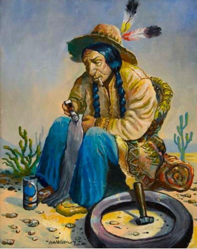 "Fixing A Flat"" Robert Lyn Nelson -17 years old-childhood art. Oil painting  16x20  @robertlynnelson.com  #art"