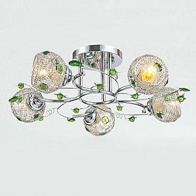 5 Lights, Flush Mount,Creative Iron Glass Plating – LightSuperDeal.com