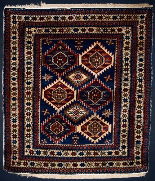 ANTIQUE ARMENIAN RUG OF SCARCE SMALL SIZE, CIRCA 1900   Knights Antiques