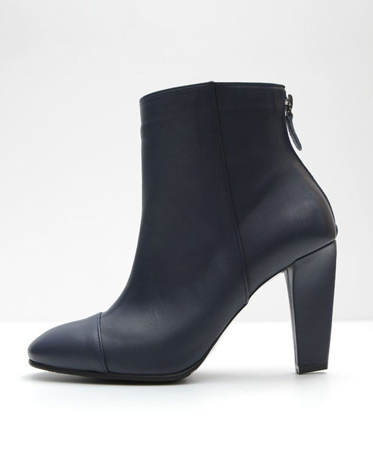 90440c6083fb Dark Navy Leather Ankle Boots. Dark Navy Ankle Boots for Women s. Three  pieces of