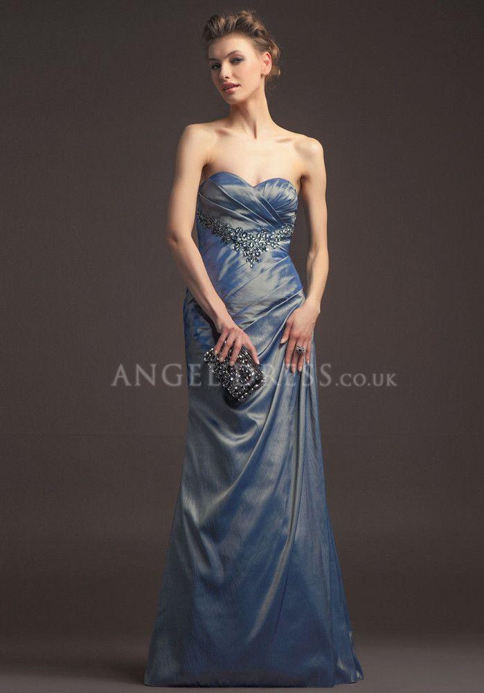 Floor Length Empire Waist Taffeta Dress