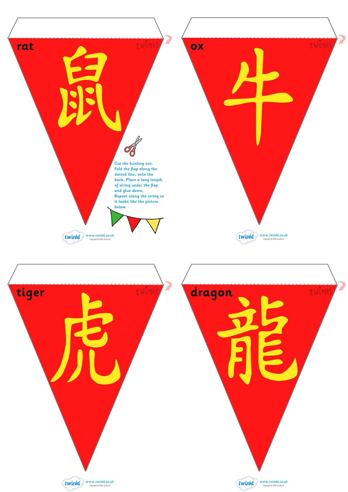 Chinese New Year Bunting Symbols