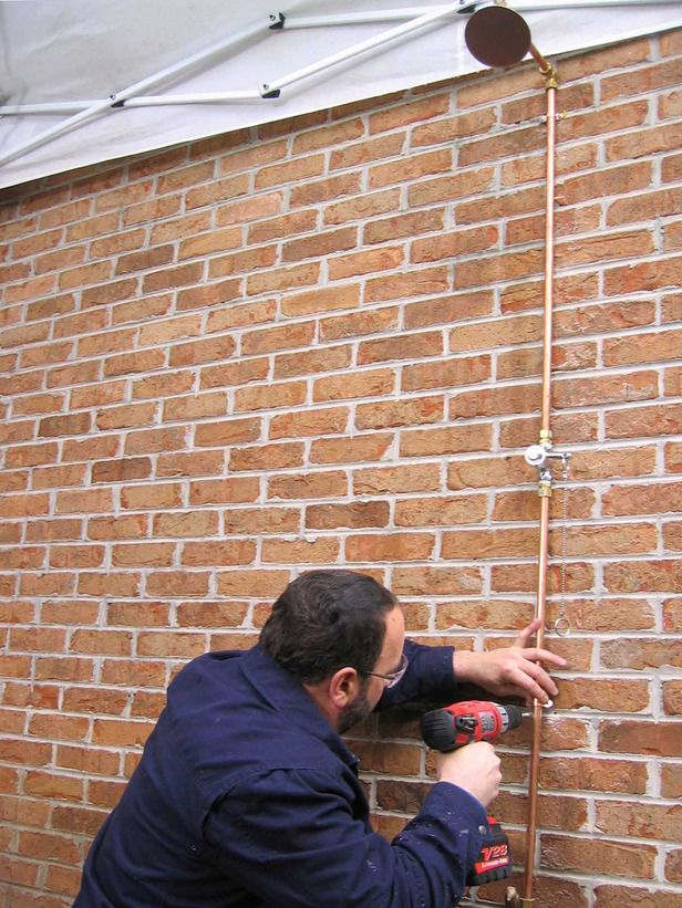 How To Install An Outdoor Shower With Images Outdoor Shower