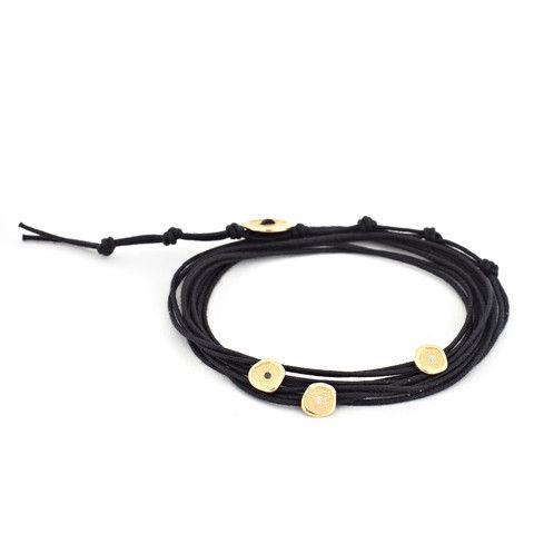 Cord Wrap Pebble Bracelet