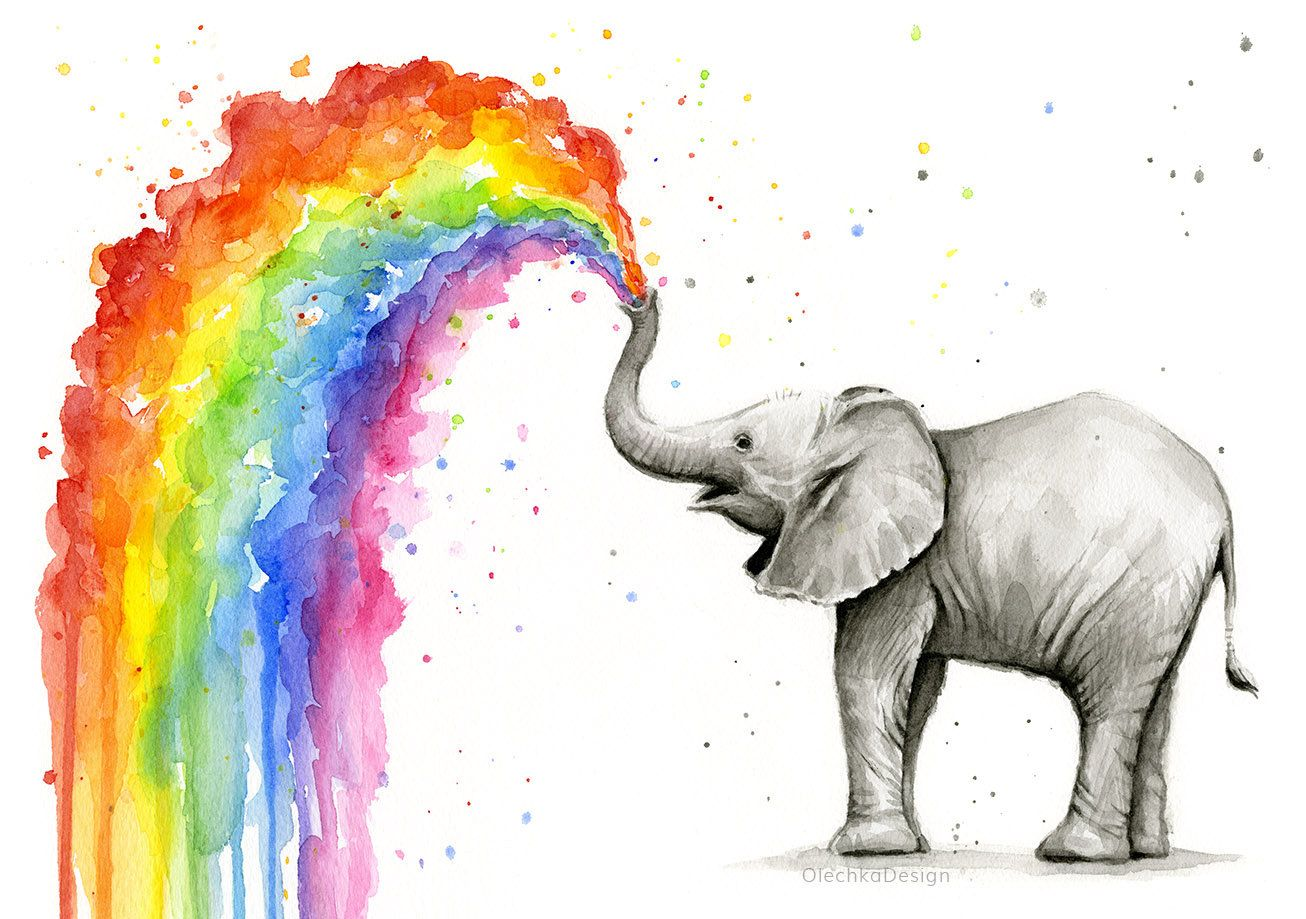 Elefant Kinderzimmer Elefant-Kunst | nähen | Pinterest | Aquarell ...