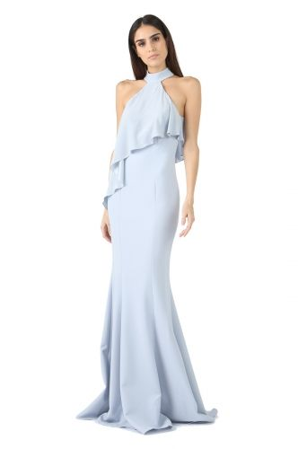 25c09b3de2 ICE BLUE FRANKLIN HIGH NECK OVERLAY GOWN from Jay Godfrey