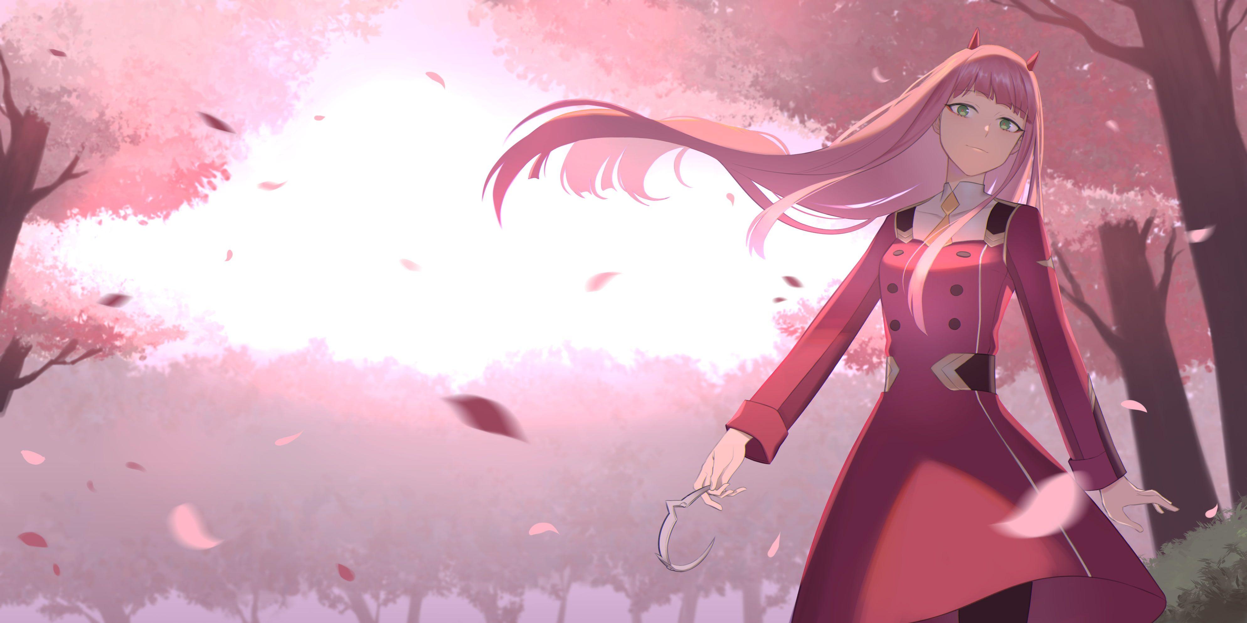 Darling Franxx The Two Zero 4k Wallpaper Hdwallpaper Desktop Anime Background Anime Backgrounds Wallpapers Anime Wallpaper