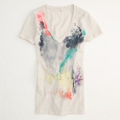 J Crew Watercolor Tee Diy Fashion Cute Diy Projects Diy