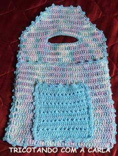 Tricotando com a Carla: Lixeira para carro em crochê