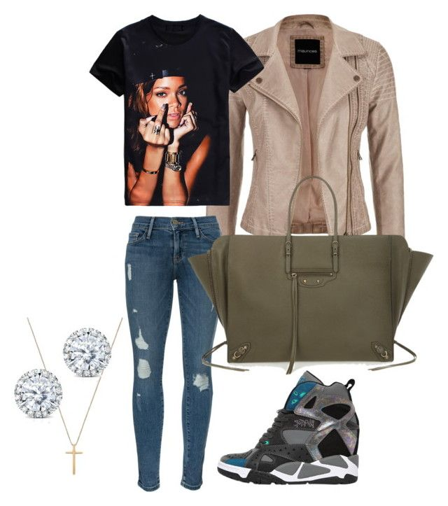 """""""This is dressed down for me"""" by justb-fashion on Polyvore featuring maurices, Frame Denim, Reebok, Gucci, Balenciaga and Kobelli"""