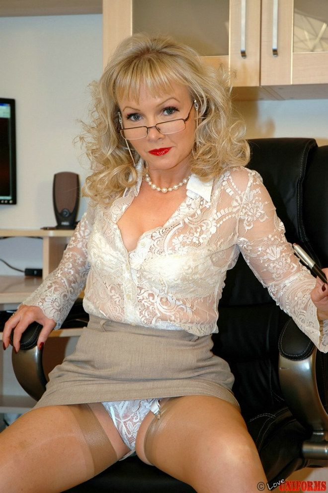 Mature office milf
