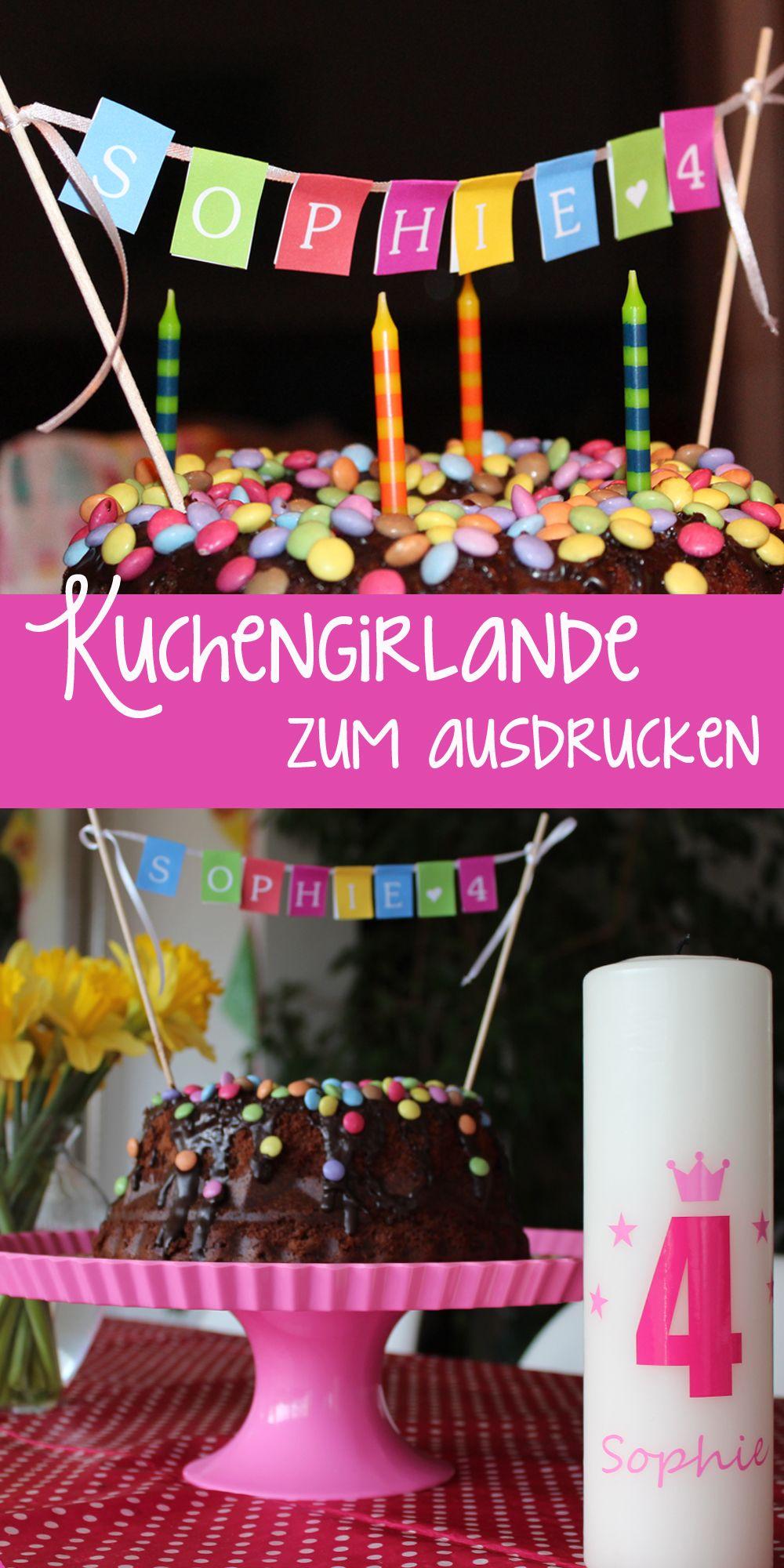 Kuchen-Girlande / Winpelkette zum download und ausdrucken auf dem Engel + Bandit...