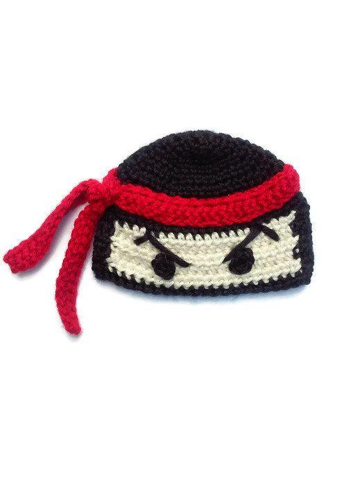 Ninja Crochet Hat (Baby, Toddler, Kids, Adult) | Halloween Costume ...