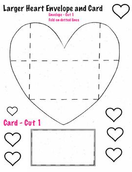 Heart Cards Envelopes Templates 4 Pages Art Valentines Mini Envelopes Template Envelope Template Heart Cards