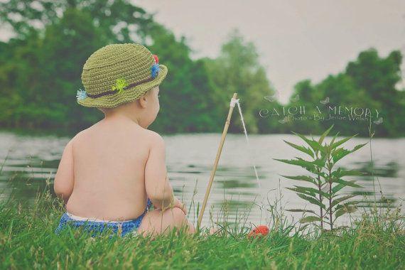 Cotton Fishing Hat Sun Hat Beach Hat by BabblingHook on Etsy