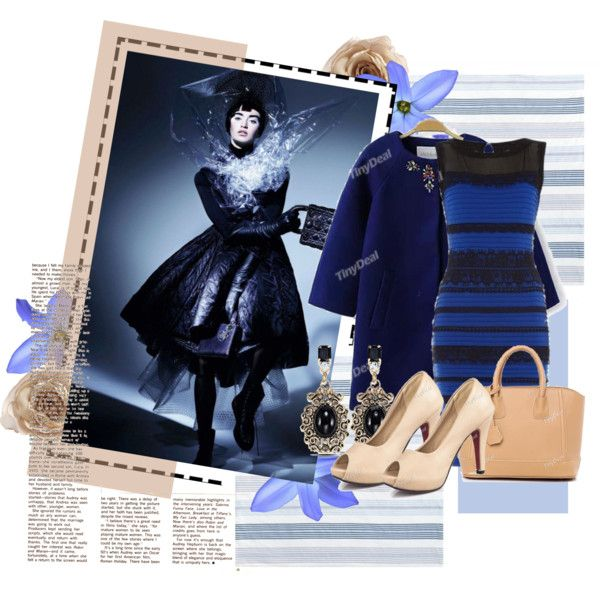 blue and brown by walkthisland on Polyvore featuring  tinydeal