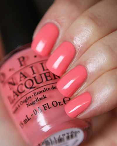 Opi Sorry I M Fizzy Today The Perfect Pink Coral Coral Pink