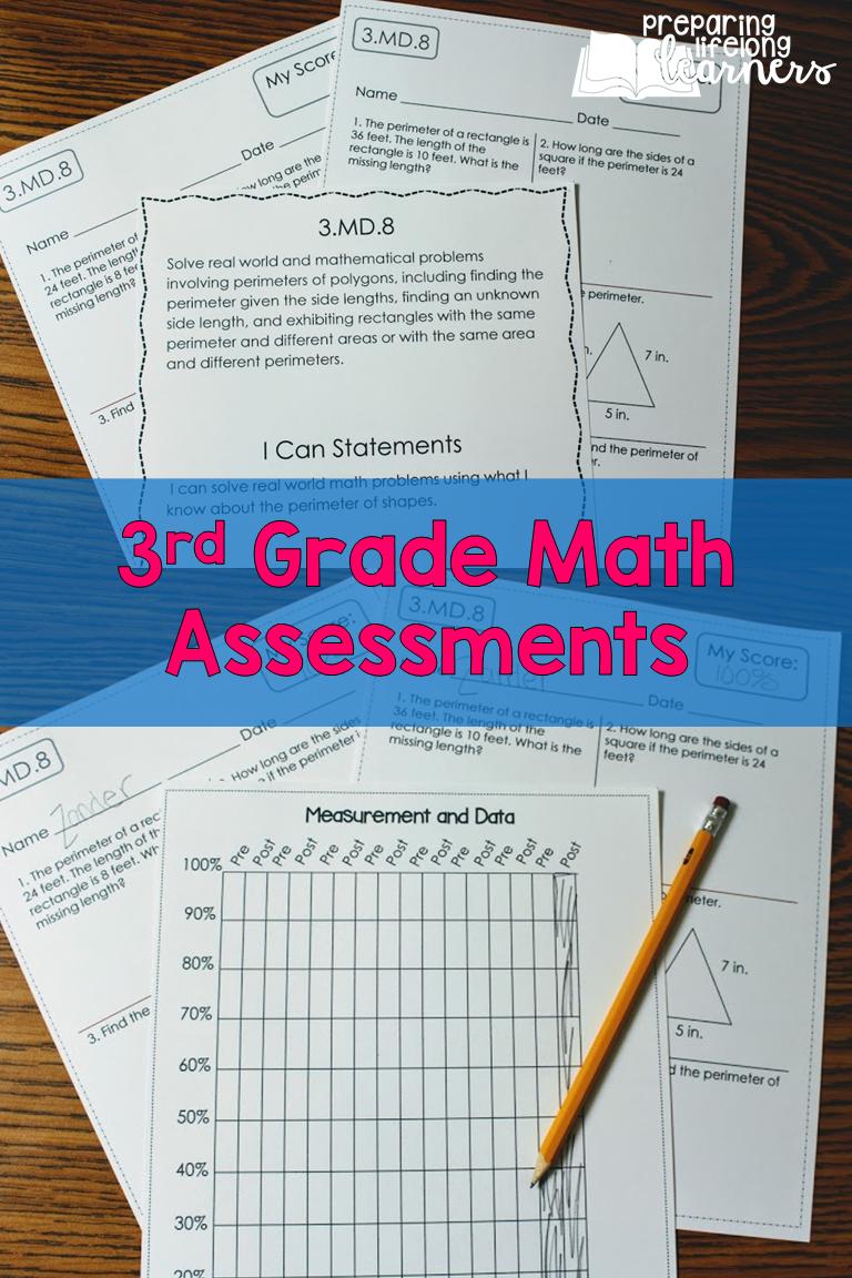 3rd Grade Math Assessments Cc Pre And Post Tests Distance Learning Math Assessment 3rd Grade Math Math [ 1152 x 768 Pixel ]