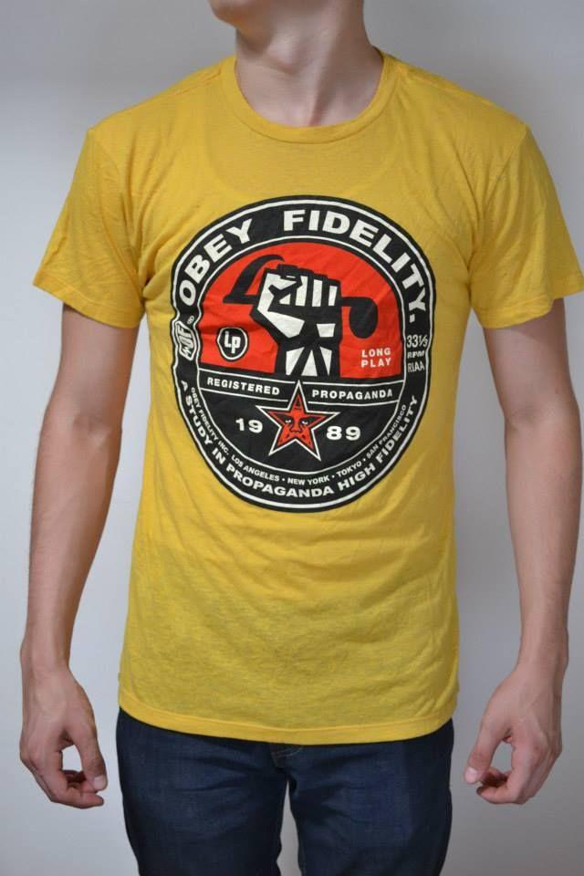 "Camisa amarilla marca OBEY ""OBEY FIDELITY"""