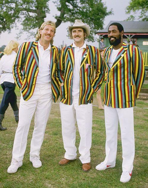 Viv Richards and Ian Botham rocking some natty club blazers.