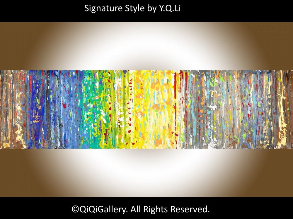 paintings for office walls. September Shower By QIQIGallery Un-stretched Canvas Original Modern Abstract Wall Paintings Acrylic Art Office - For Walls