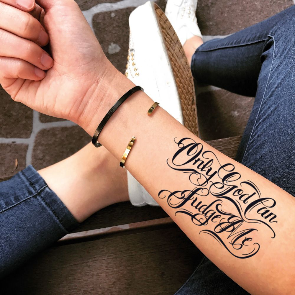 Pin On Lettering Temporary Tattoos