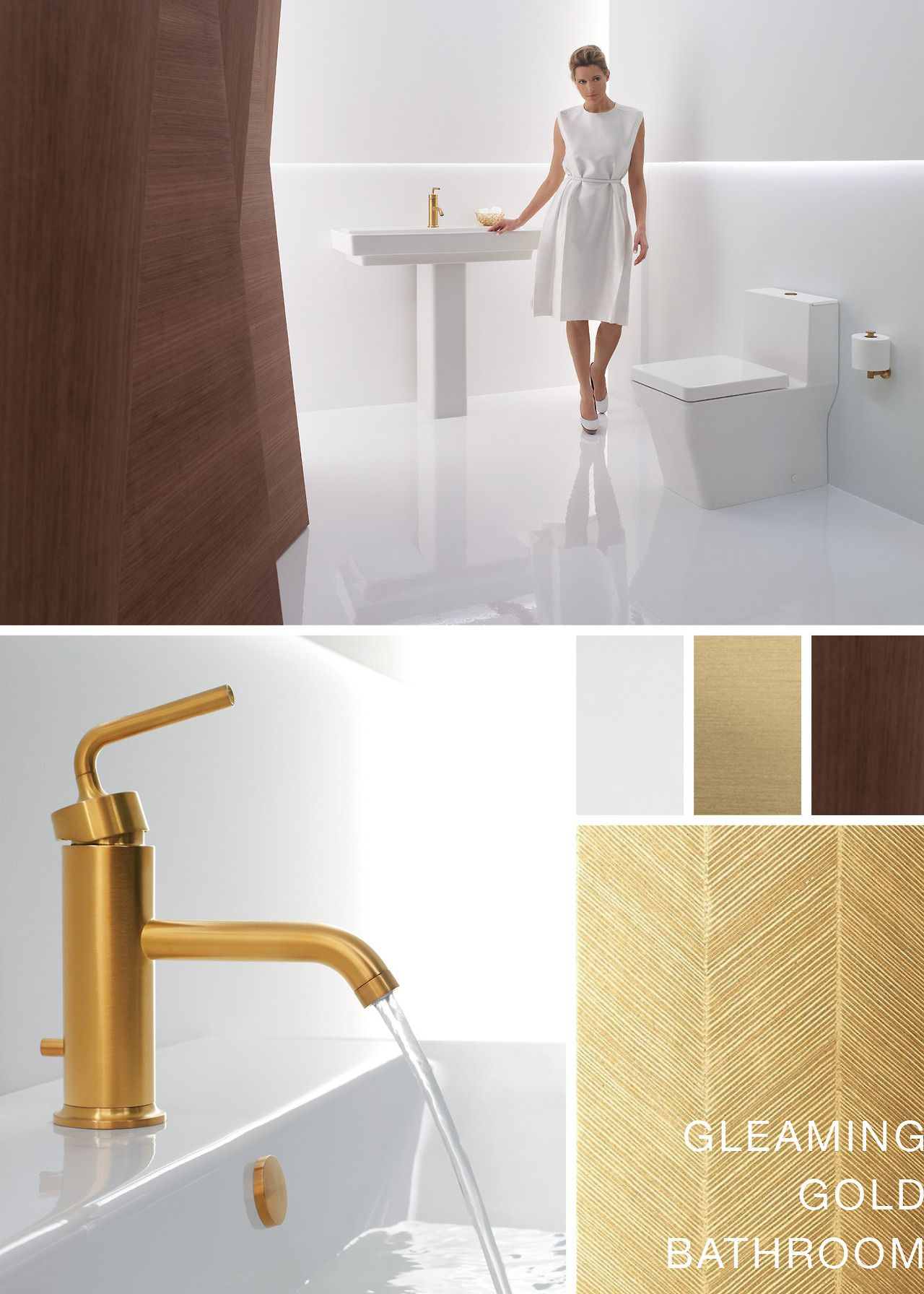 Gleaming Gold Bathroom Inspiration http://bold.kohler.com/tagged ...