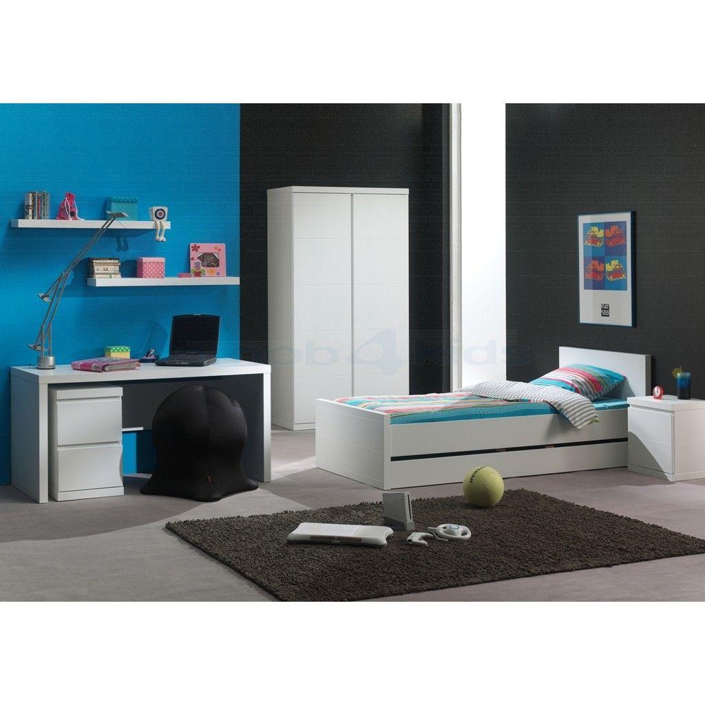 Composez une chambre Lara white blanc - chambre d'enfant: http://www.emob4kids.be/fr/chambre-enfant/lara-white/composer-chambre-enfant-lara-white.html