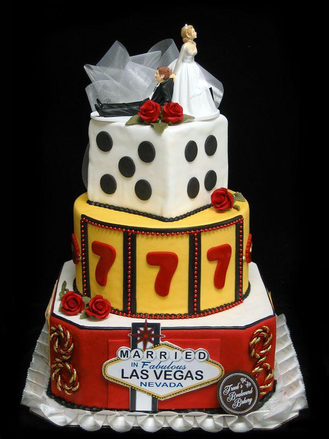 Las Vegas Themed Wedding Cake Weddings Vegas Style Pinterest