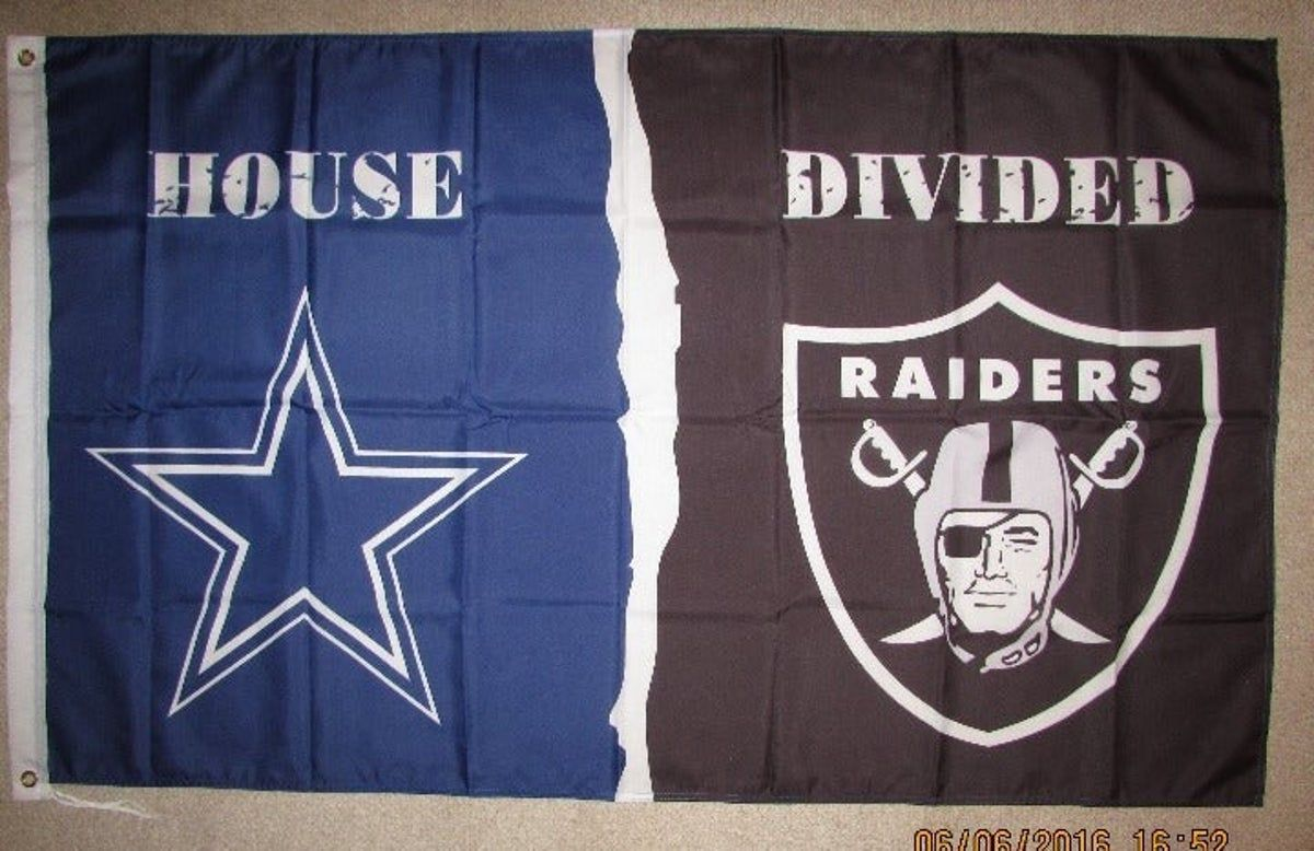 Dallas Cowboys Los Angeles Raiders Flag In 2020 Raiders Flag Nfl Flag Raiders Vs