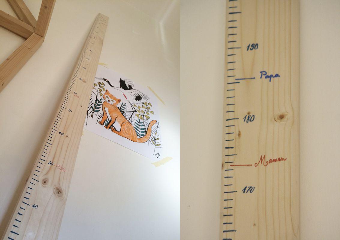 DIY Toise en bois | Toise enfant, Toise en bois et Toise