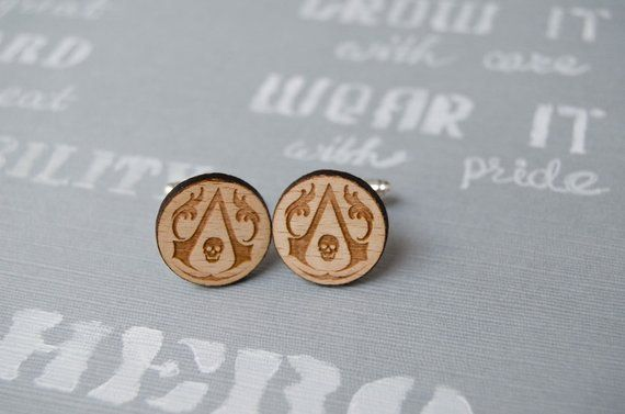Assasin Cufflinks, fun men accessories, Superhero gift #superherogifts