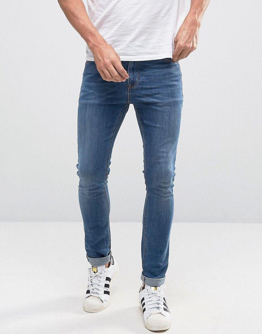 ASOS Super Skinny Jeans In Mid Wash Blue en 2020 | Vetements