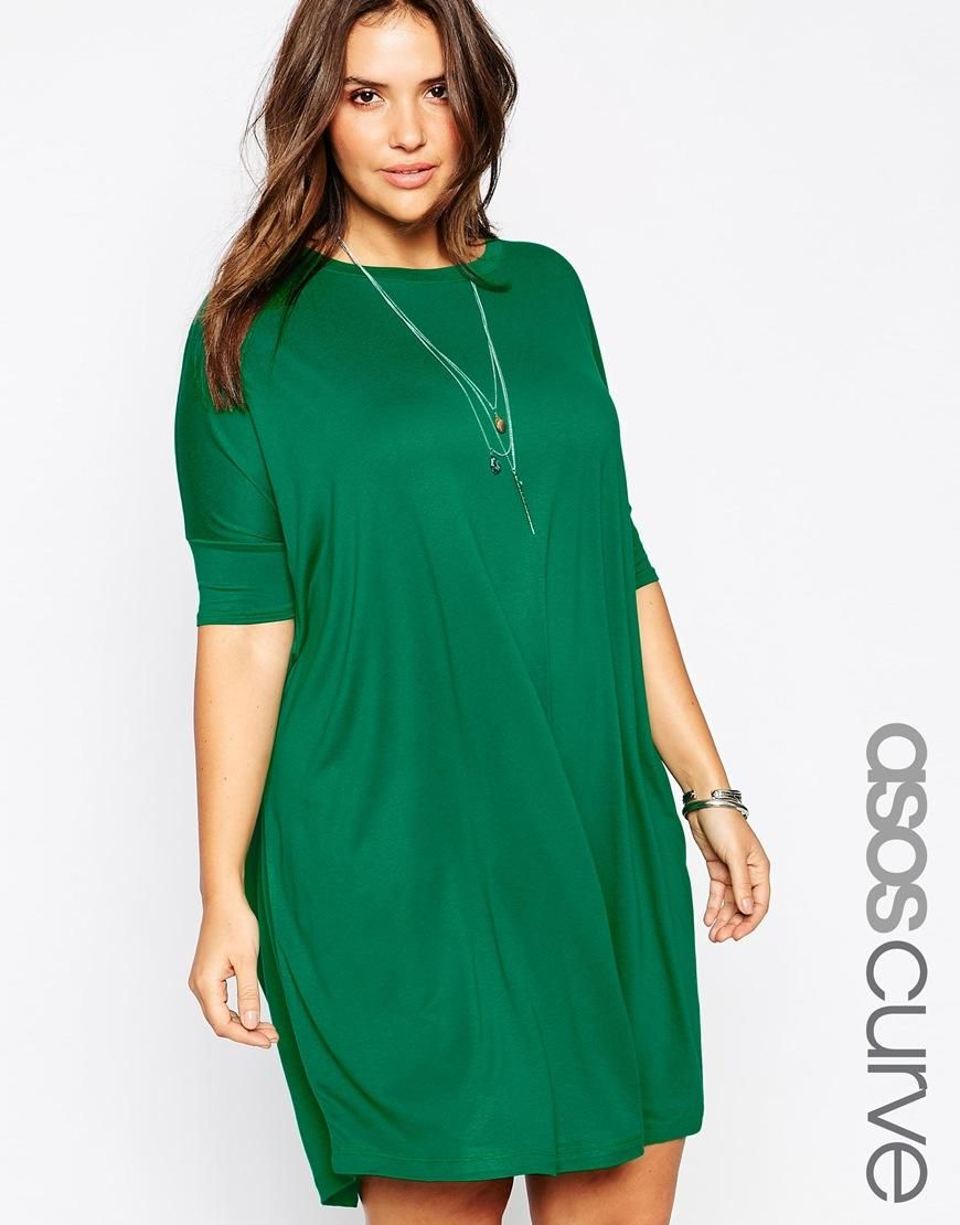 Green t shirt dress outfit  CURVE The TShirt Dress  My Style  Pinterest  Asos curve Curves