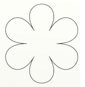Resultado de imagem para flor com seis petalas em eva passo a passo