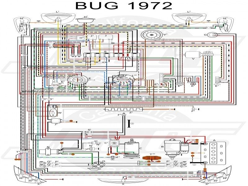 Vw Tech Article 1972 Wiring Diagram - Wiring Forums | Vw bug, Vw super  beetle, Vw beetlesPinterest