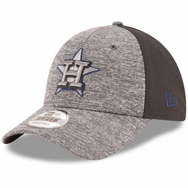 a37ed24e10c Men s Houston Astros New Era Heathered Gray Black Shadowed Team Logo 9FORTY  Adjustable Hat