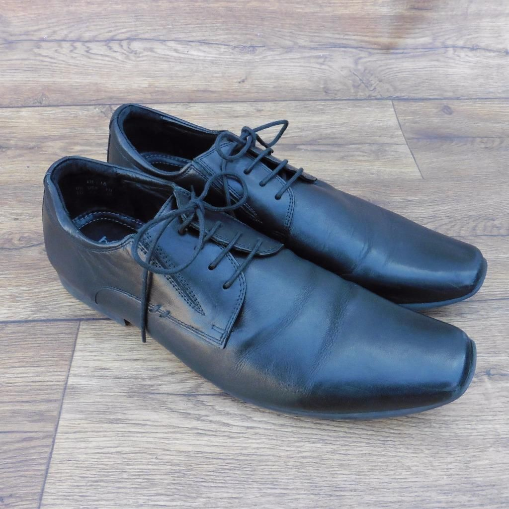 Ebay uk leather work gloves - Details About Size Uk 10 Hotter Delta Mens Black Leather Lace Up Shoes Smart Work Shoes