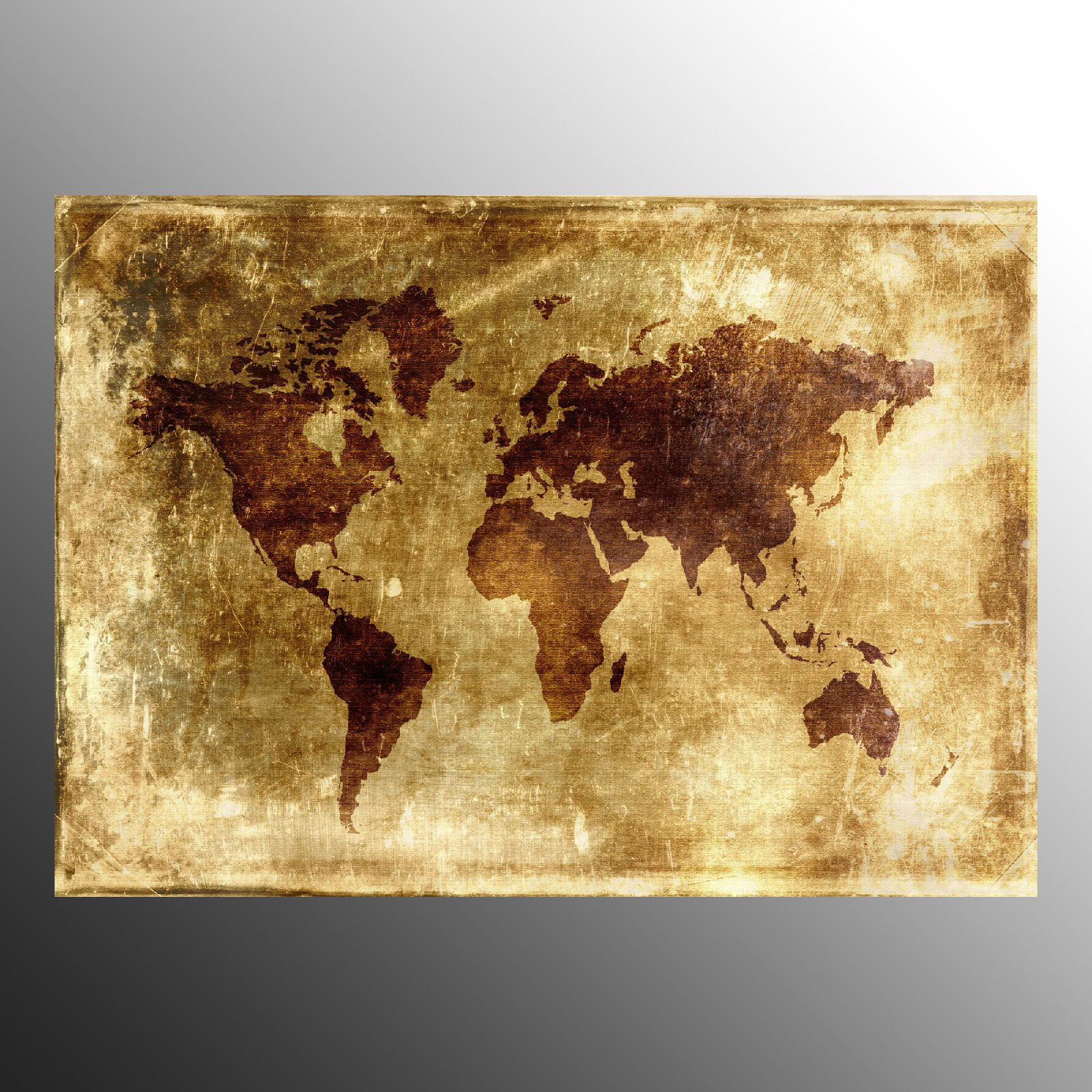 Canvas Prints For Decoration Wall Art Canvas Printed Old World Map ...