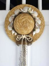 Photo of Decorazioni per cappelli di paglia: un'ode all'estate e alla spiaggia #giardino di fiori #giardino di fiori #giardino …