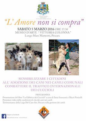 Pescara Presentazione campagna adozioni e lotta alla tratta dei cuccioli