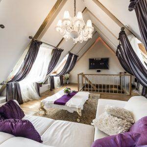 white gold purple bedroom o