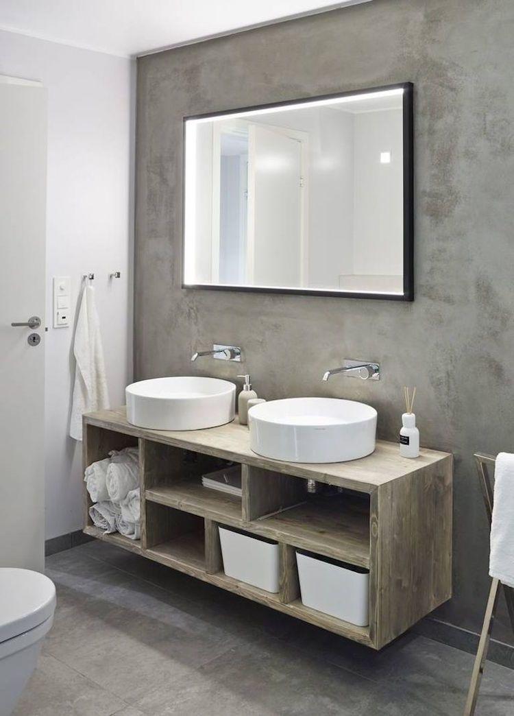 salle de bain b ton cir tendance pour donner nouveau look l espace r novation d. Black Bedroom Furniture Sets. Home Design Ideas
