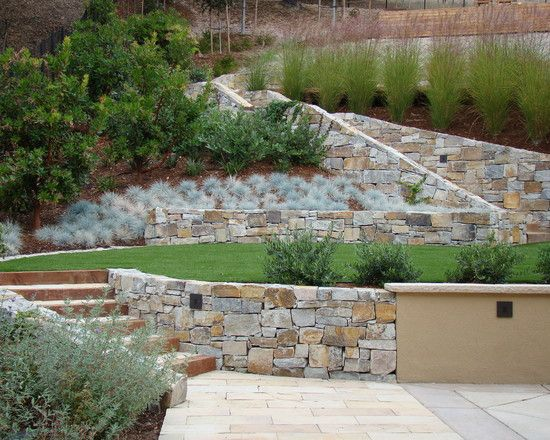 Stone Wall - Terraced Yard Design, Pictures, Remodel, Decor and Ideas - page 10