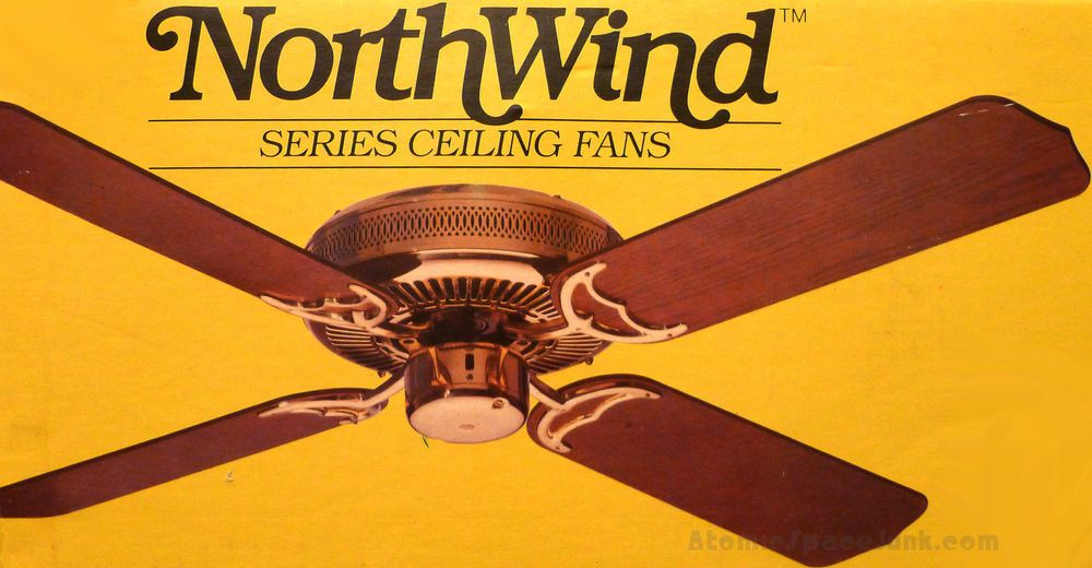 Emerson Northwind Vintage Ceiling Fan 52 Antique Brass W Stencil
